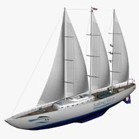 3d yacht sailing model