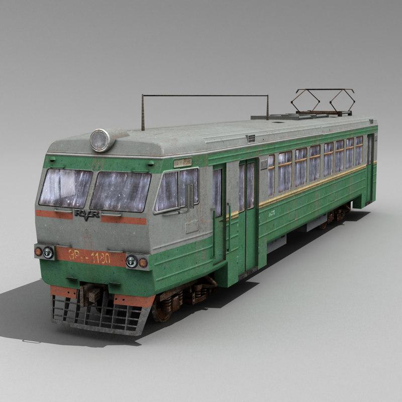 electric train 3d max