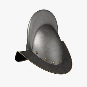 morion helmets 3d model
