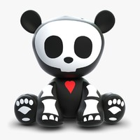 Skelanimal Andy Panda Toy