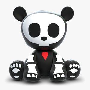 3d model panda toy animal