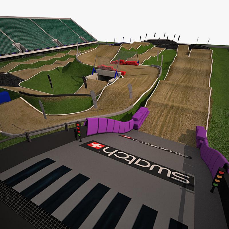bmx track london 3d model