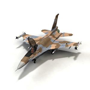 f-16 fighting falcon israeli 3d model
