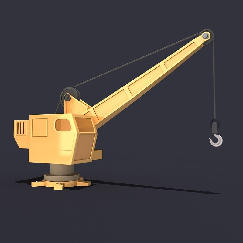 crane cartoon 3d model