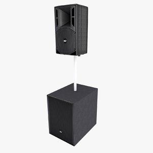 rcf speaker 3d model
