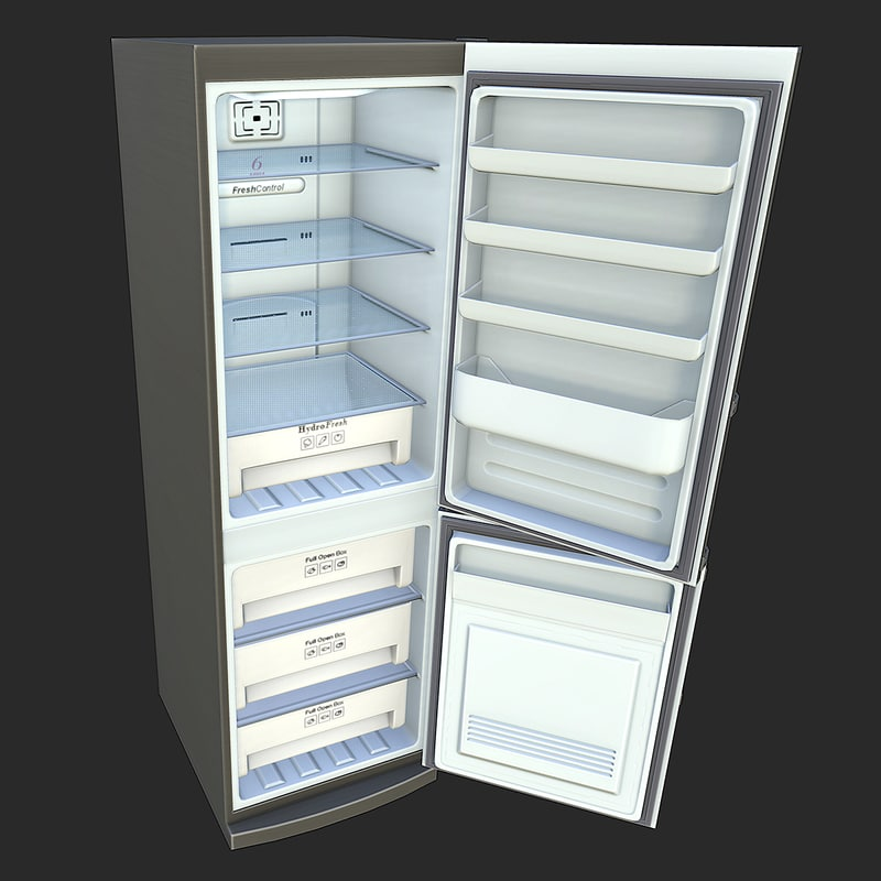 3d model ready refrigerator games