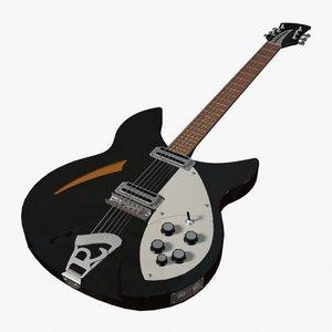 rickenbacker electric guitar 3ds