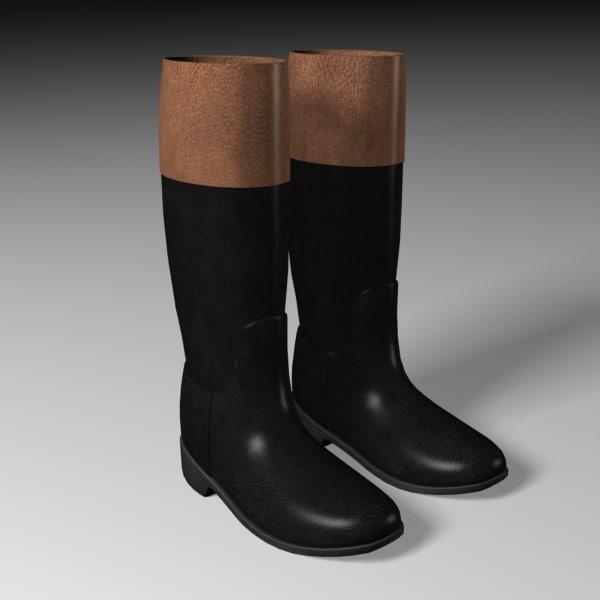 3d model riding boots