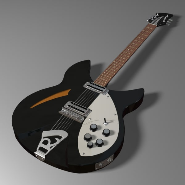 rickenbacker electric guitar 3ds