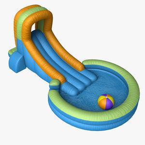 3d inflatable waterslide model