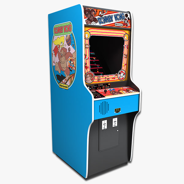 3d model of donkey kong arcade