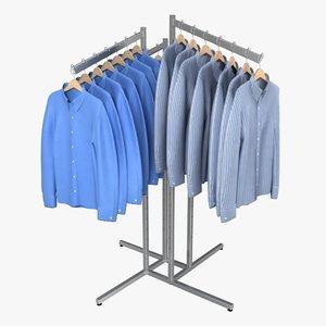 3d model dress shirt rack 1