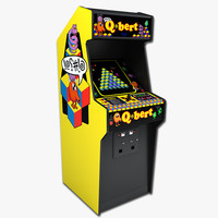 qbert arcade 3d model