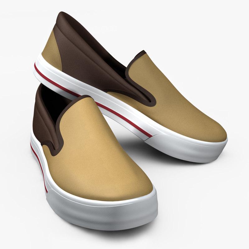 vans slip-on shoe 3d model