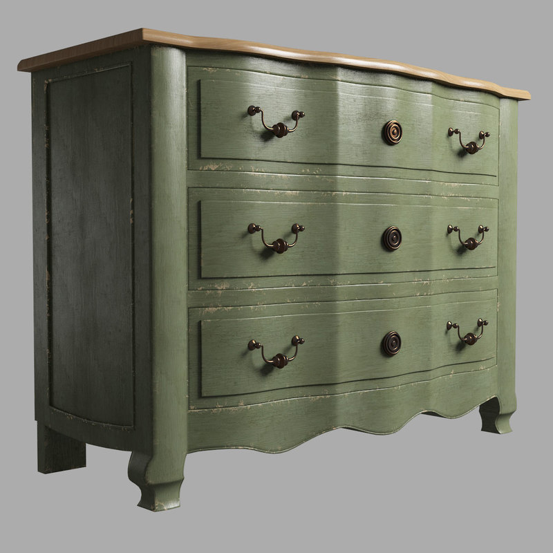 drawers chest 3d model