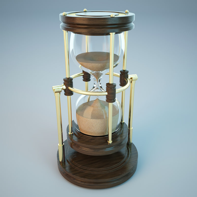 hourglass wood 3d 3ds