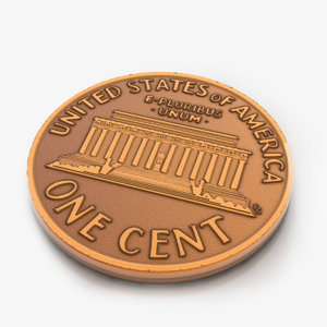 coin penny 1 3d max