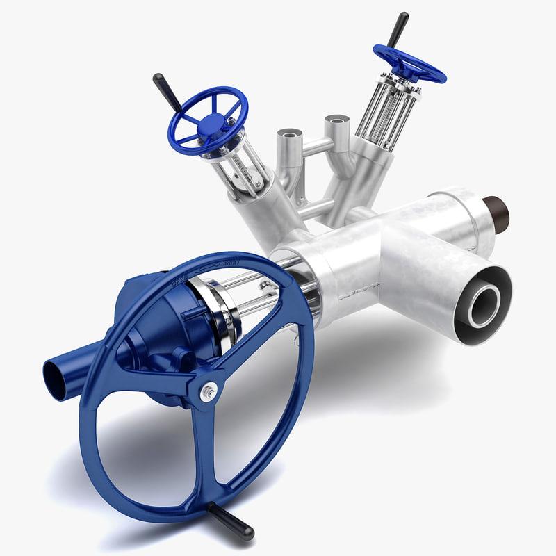 3d max industrial valve