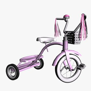 little lady tricycle 3d model