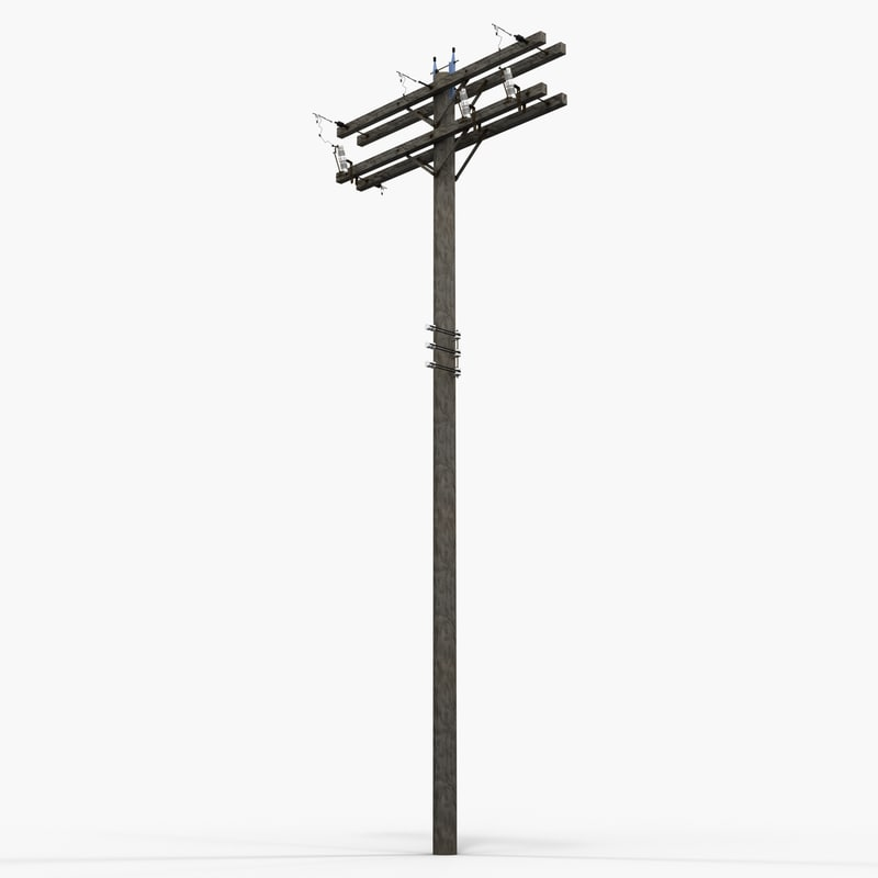 3d model utility pole 2