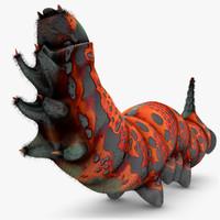 Wolfsmilchschwarmer Raupe Orange (ANIMATED)