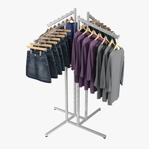 3d skirt sweater rack