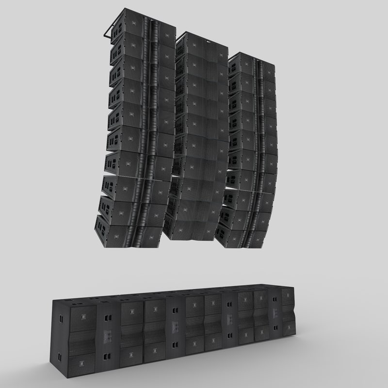 jbl vtx line array 3d 3ds