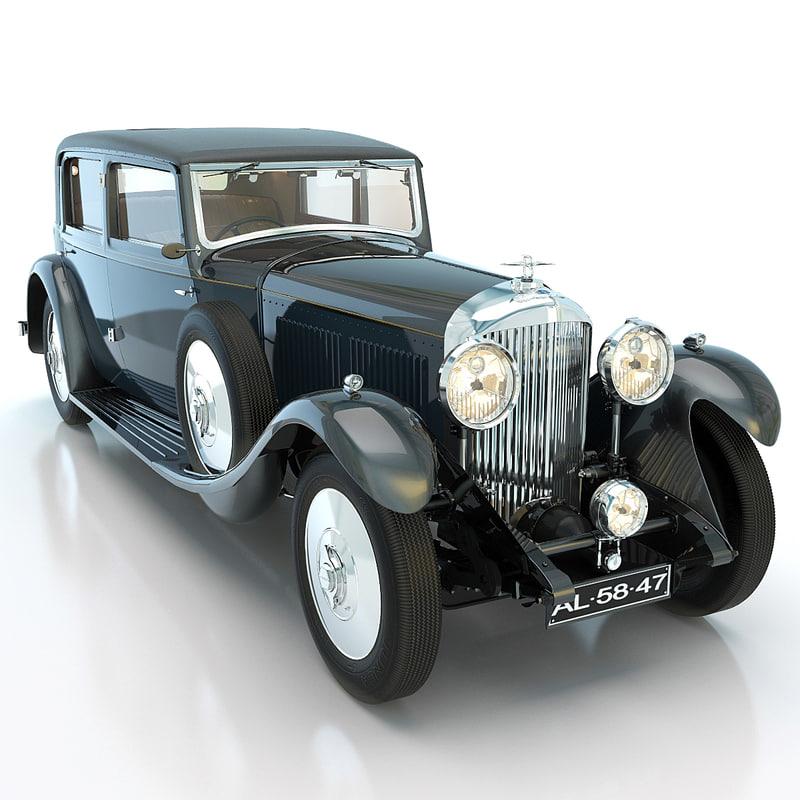 bentley 8 litre 1931 3d max
