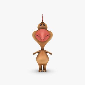 cartoon chicken rigged biped 3d 3ds