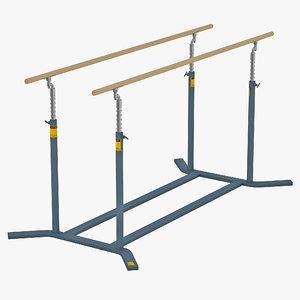 gymnastics parallel bars 3d max