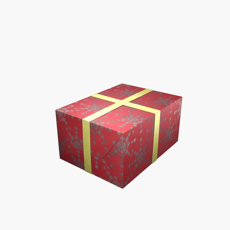 christmas present gift 3d max