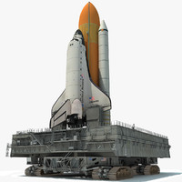 nasa crawler launch space shuttle 3d model