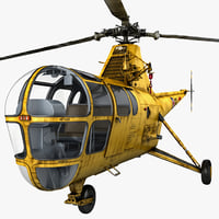 3d max sikorsky h-5 4 rigged