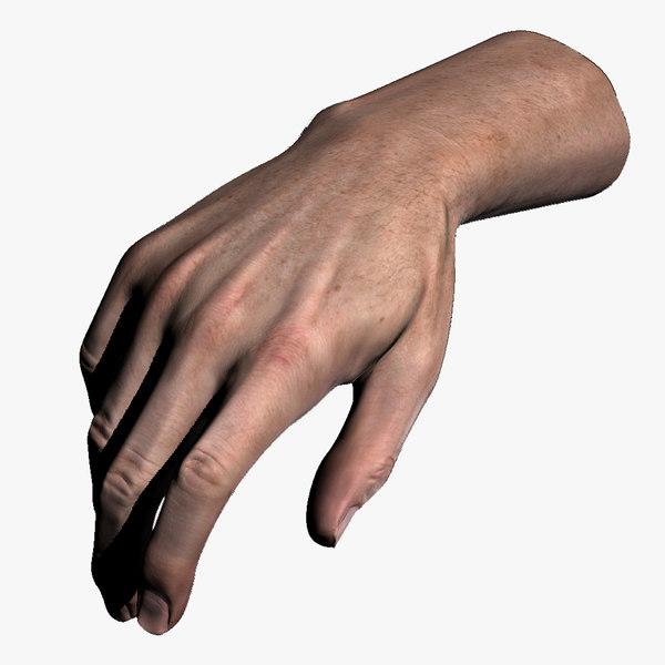 hand quad high-res 3d model