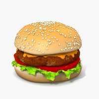 hamburger bread 3d 3ds