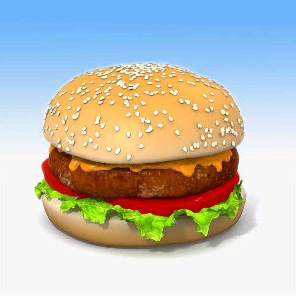 hamburger bread 3d 3ds