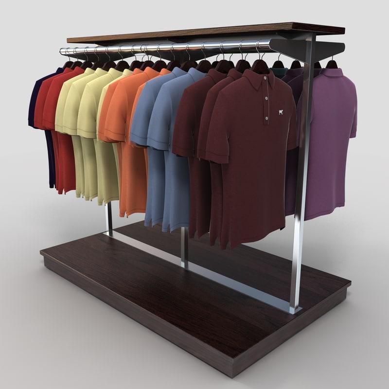 max polo shirt rack