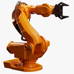 abb irb 7600 industrial robot 3d model