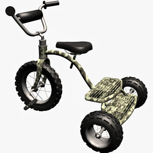 3d dwg army boy tricycle