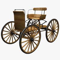 buckboard wagon obj