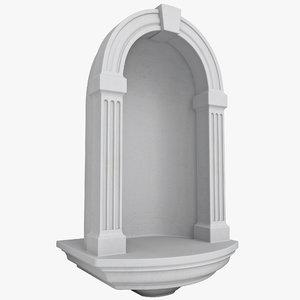 3dsmax decorative wall niche