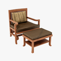 Huertley Spindle Back Chair and Ottoman