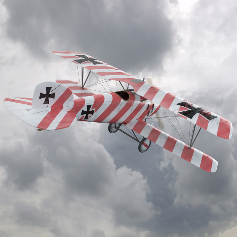 3d ww1 albatros diii fighter aircraft