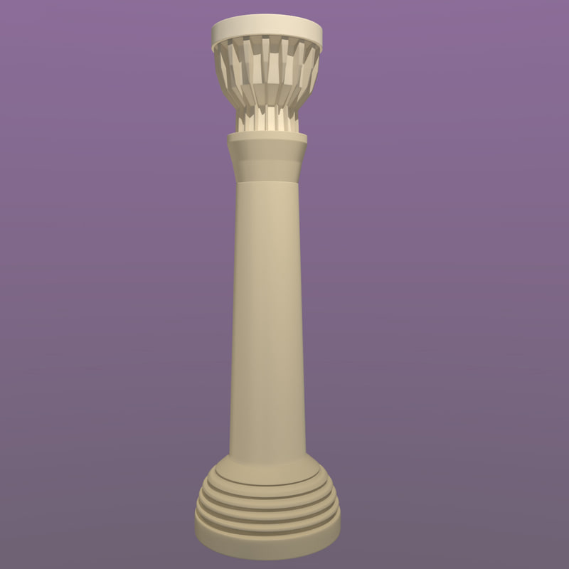 freestyle pillar 3d model
