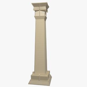 3d model freestyle pillar