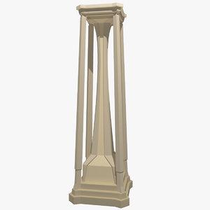 3d freestyle pillar