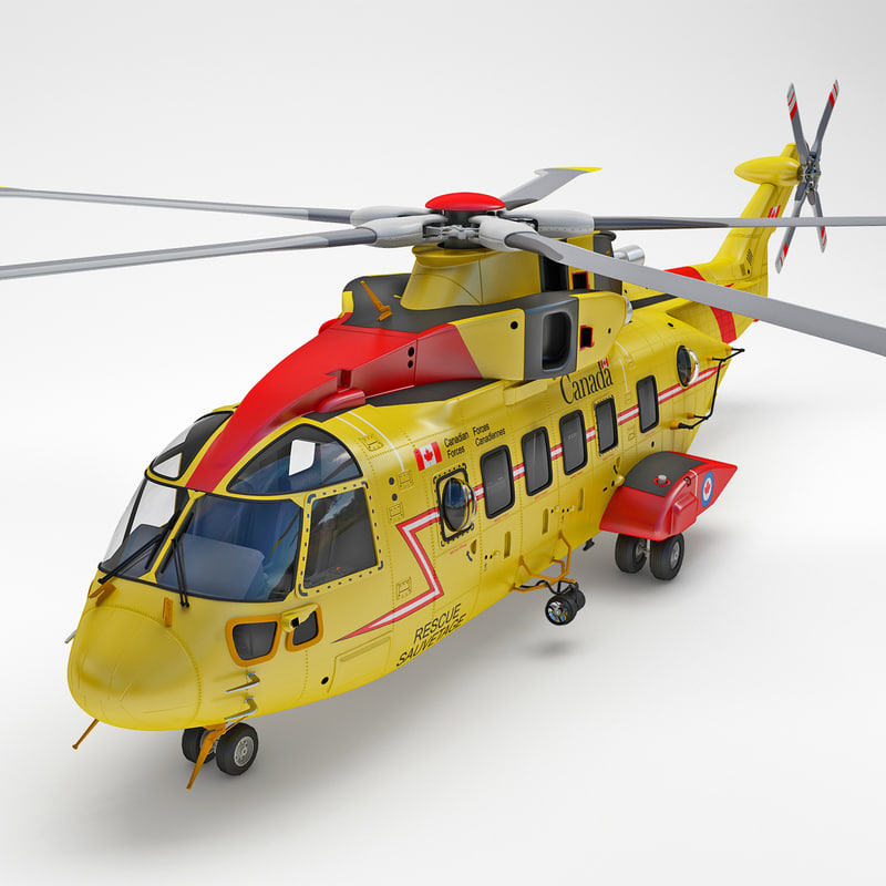 rescue helicopter ch-149 cormorant 3d model