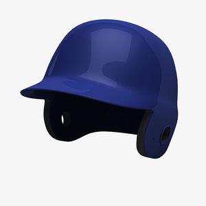 baseball batting helmet 3d model