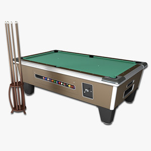pool table arcade 3d model