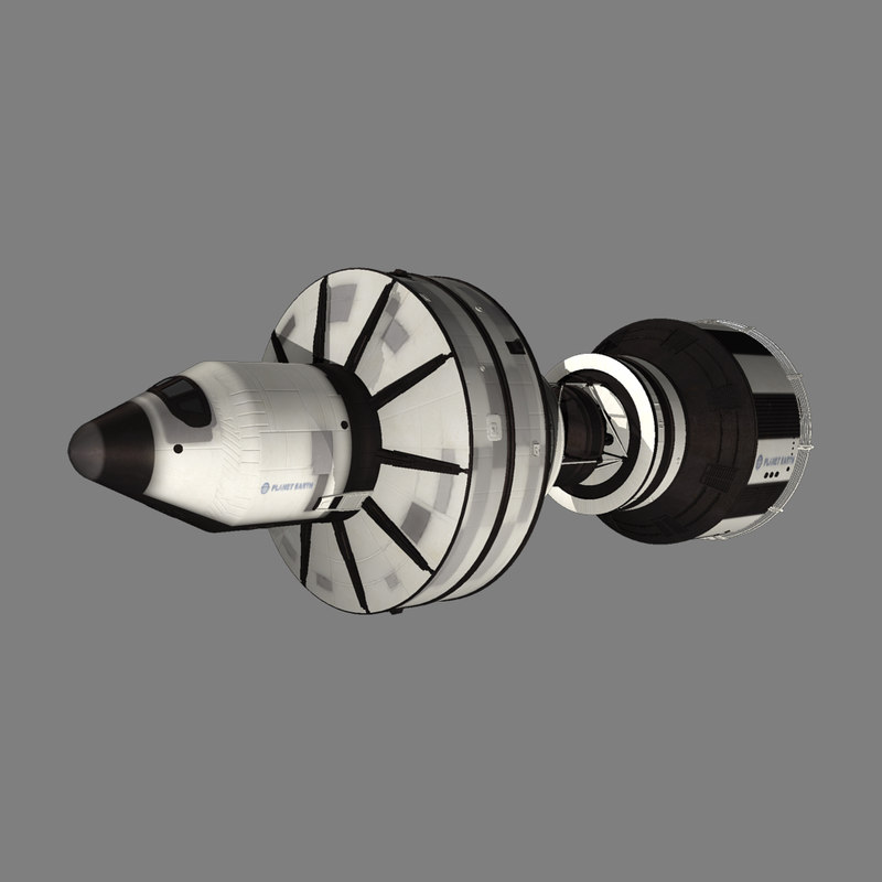 3d space exploration ship model